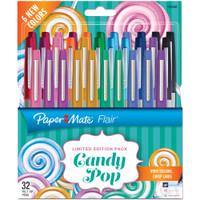 Paper Mate Flair Ultra Fine Felt Tip - Set of 32 - Candy Pop