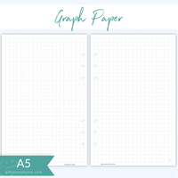 Green and Lyme - A5 Graph Paper