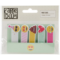 Carpe Diem - Simple Stories - Emoji Love Page Flags