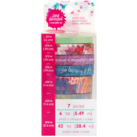 Jane Davenport Mixed Media Washi Tape Set - Fantastical - 7 Rolls