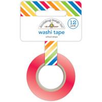 Doodlebug Washi Tape 8mm X 12yd - School Stripe