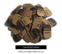 25 Kraft Gift Tag - 100% Love #GT36
