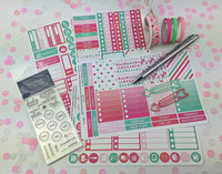 Exclusive Planner Boxed Kit - Pretty Pink and Mint - Outside Australia