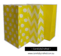 Standing Up Paper Bags - Chevron, Polka Dot, Plain - Yellow