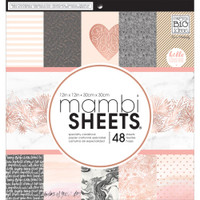 "Me and My Big Ideas - Mambi Single-Sided Paper Pad 12"" x 12"" - Rose Gold"