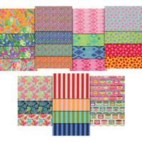 Free Spirit Fabric Precuts - Fat Quarter Bundle - Tabby Road by Tula Pink