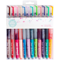Jane Davenport Mixed Media Mermaid Watercolor Markers - Set of 12 - Brush Tip