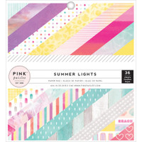 """Pink Paislee - Single-Sided Paper Pad 6"""" x 6"""" - Summer Lights"""