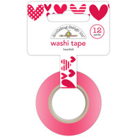 Doodlebug Washi Tape 15mm X 12yd - Heartfelt
