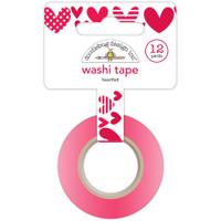Doodlebug Washi Tape 15mm X 12yd - Heartfelt