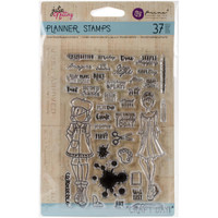 "Prima Marketing - Julie Nutting Planner Clear Stamps 4""x 6""- Craft Day"