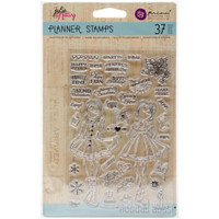 "Prima Marketing - Julie Nutting Planner Clear Stamps 4""x 6""- Holiday Bliss"
