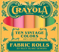 Riley Blake Fabric - Confetti Cottons Vintage Crayola Fat Quarter Box