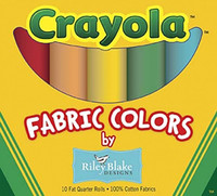 Riley Blake Fabric - Crayola Fat Quarter Box
