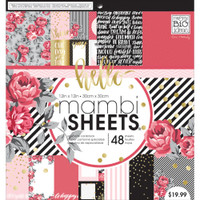 "Me and My Big Ideas - Mambi Single-Sided Paper Pad 12"" x 12"" - Life is Rosy"