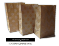 Standing Up Paper Bags - Chevron, Polka Dot, Plain - Kraft