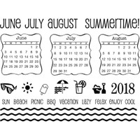 SRM Press - SRM Planner Clear Stamps - Summer Plans