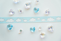 Simply Gilded - Washi Tape - Baby Blue Silver Clouds
