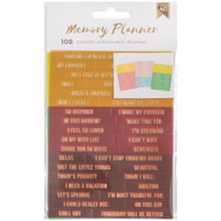 American Crafts - Memory Planner Word Jumble Stickers - Phrases