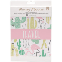 American Crafts - Memory Planner Inserts - Travel