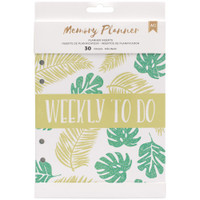 American Crafts - Memory Planner Inserts - Weekly To Do