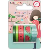Craft Consortium - Santoro Kori Kumi II Washi Tape - Set of 5
