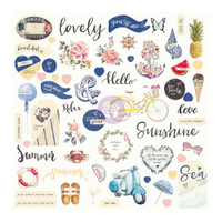 Prima Marketing - St. Tropez Ephemera Cardstock Die-Cuts