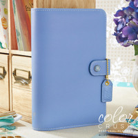 "Color Crush Faux Leather Personal Planner Kit 5.25"" X 8"" - Periwinkle"