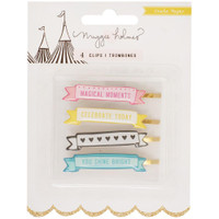 Crate Paper - Maggie Holmes Carousel Clips - Banners - Set of 4