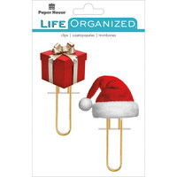 Paper House Life Organized Puffy Clips - Set of 2 - Christmas