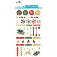 "Paper House Life Organized Epoxy Stickers 6.5"" x 3.5""- Christmas"