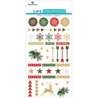 "Paper House Life Organized Epoxy Stickers 6.5"" x 3.5""- Christmas"