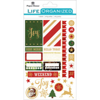 """Paper House Life Organized Planner Stickers 4.5"""" x 7.5""""- Christmas"""