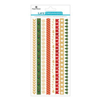 """Paper House Life Organized Rice Paper Border Stickers 8"""" x 4""""- Christmas"""