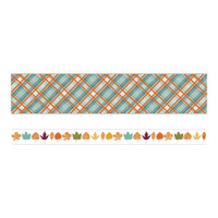 Paper House Life Organized Washi Tape - Set of 2 - Autumn Woods with Gold Foil