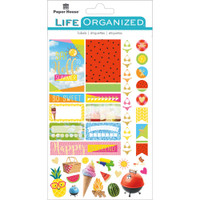 "Paper House Life Organized Planner Stickers 4.5"" x 7.5""- Summer Fun"