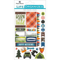 "Paper House Life Organized Planner Stickers 4.5"" x 7.5""- Outdoor Fun"