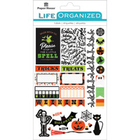 "Paper House Life Organized Planner Stickers 4.5"" x 7.5""- Halloween Fun"