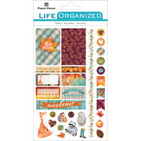 """Paper House Life Organized Planner Stickers 4.5"""" x 7.5""""- Autumn Woods"""