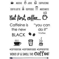 SRM Press - SRM Planner Clear Stamps - Coffee Plans