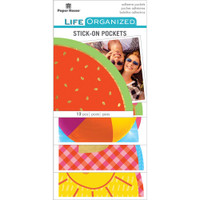Paper House Life Organized Vellum Planner Pockets - Set of 12 - Summer Fun