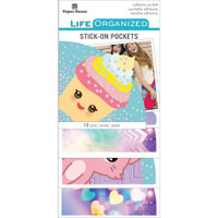 Paper House Life Organized Vellum Planner Pockets - Set of 12 - Kawaii Fun