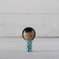 Doohikey Designs - Binding Babies Mini - Aqua with Red Dots