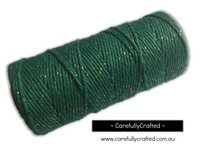 Baker's Twine 12 Ply - 100 Metre (110 Yards) Spool - Green and Gold #BT12-14