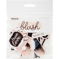 My Minds Eye - Blush Mixed Bag Cardstock Die-Cuts - Set of 52