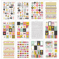 Carpe Diem - Simple Stories - Emoji Love A5 Stickers