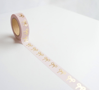 Simply Gilded - Washi Tape - Light Pink & Rose Gold Bow