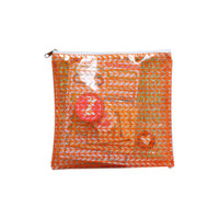 "Freckled Fawn - Printed Clear Plastic Zippered Pouch 8"" x 8"" - Chevron"