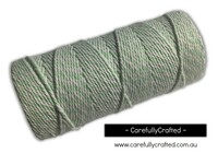 Baker's Twine 12 Ply - 100 Metre (110 Yards) Spool - Pale Green and White #BT12-25