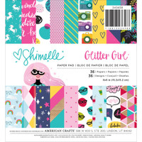 """American Crafts - Shimelle Glitter Girl Paper Pad 6"""" x 6"""""""